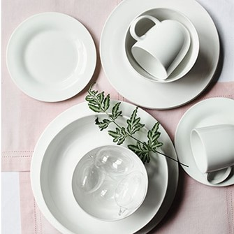 Classic white tableware