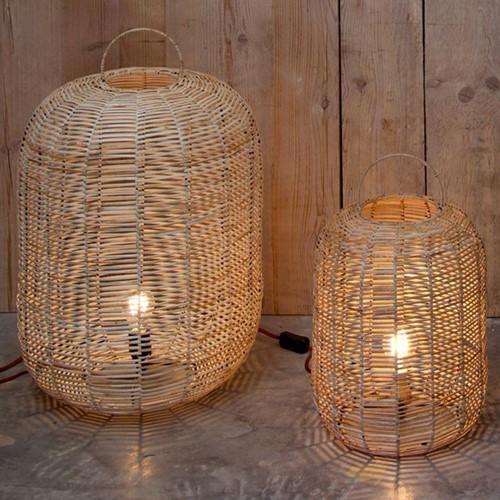 Noko Large wicker lamp, H64 x D44cm, Natural