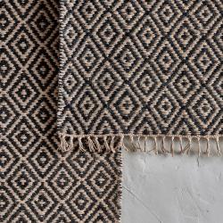 Jambo Small jute rug, 90 x 60cm, black