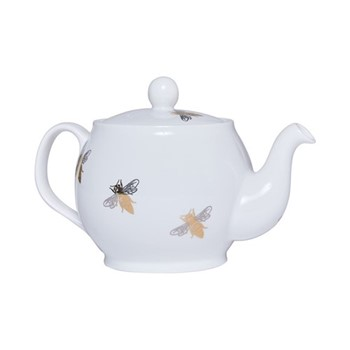 Bee Teapot, 1.1 litre, white