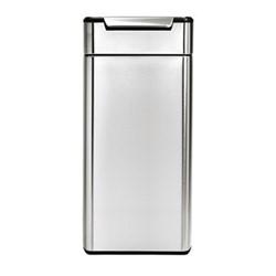 Rectangular touch bar bin, H71cm - 30 litre, brushed stainless steel