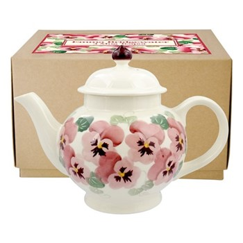 Pink Pansy Teapot, 4 mug
