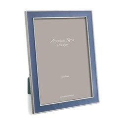 "Enamel Range Photograph frame, 8 x 10"" with 15mm border, denim with silver plate"