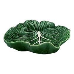 Cabbage Concave leaf dish, 26 x 25 x 8.5cm, green