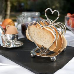 Amore Toast rack, H16 x L13cm, Nickel Plate