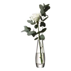 Flower Vase single stem, 17cm, clear
