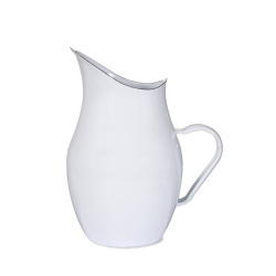 Water pitcher, white/enamel