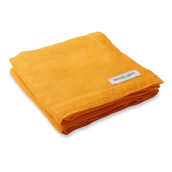 Linen beach towel, yellow