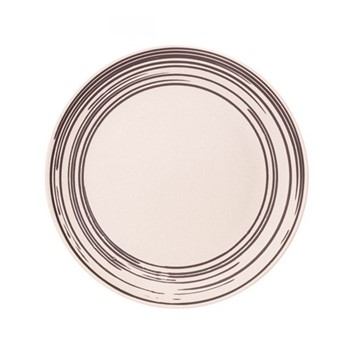 Salamanca Set of 4 dinner plates, black and white stripe