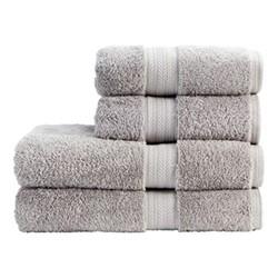 Renaissance Pair of bath towels, 76 x 142cm, dove grey