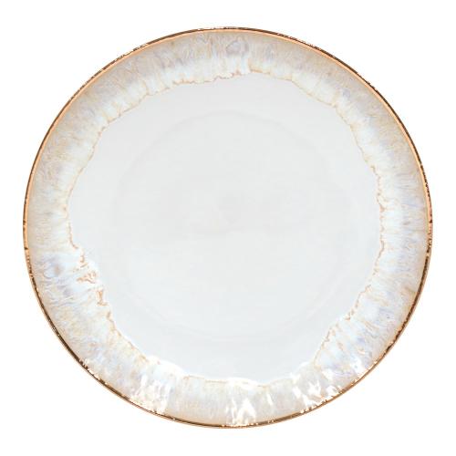Taormina Set of 6 dinner plates, 27cm, White/Gold