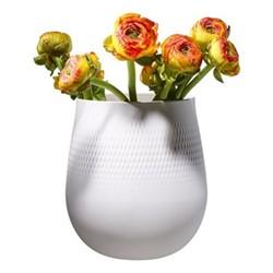 Collier Blanc Large vase, L20.5 x W20.5x H22.5cm, white