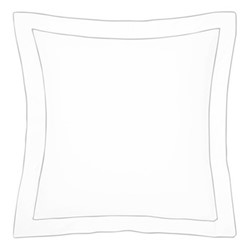 Flandre Square pillowcase, 65 x 65cm, platine
