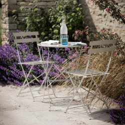 Rive Droite Garden table and 2 chair set, Clay