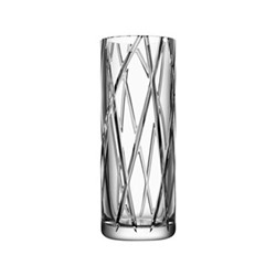 Explicit Stripe vase, H30 x W11.4cm, glass