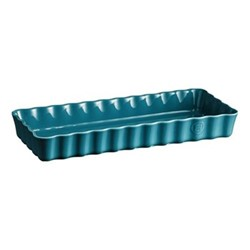 Calanque Pair of narrow tart dishes, L39.5 x W34cm - 160cl, blue