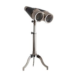 Victorian Binoculars with tripod, H41.5 x W14 x L16.5cm, silver finished