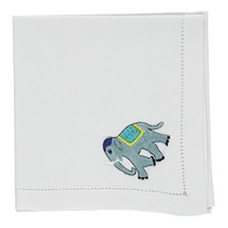 Elephant Set of 4 napkins, 45 x 45cm, cotton