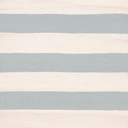Catamaran Stripe Polypropylene indoor/outdoor rug, W183 x L274cm, light blue