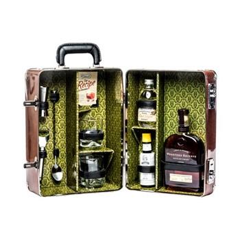 Old Fashioned Cocktail case, L28 x D20 x H38cm - 1050cl, brown