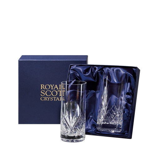 Highland Pair of tall tumblers, 15cm - 35cl, Clear