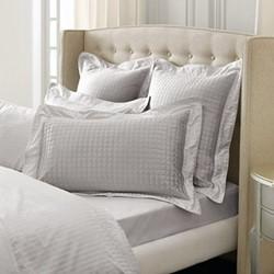Millennia Oxford pillowcase, 50 x 75cm, silver