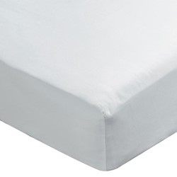 Paramount King size fitted sheet, L200 x W150 x H34cm, white