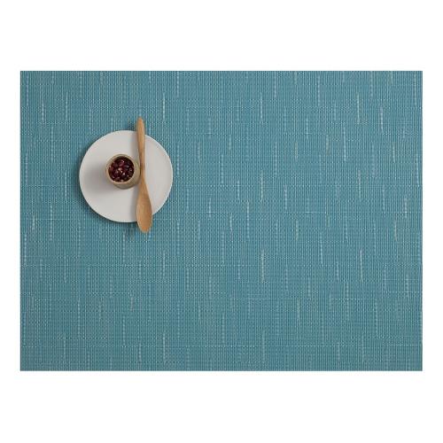 Bamboo Set of 4 rectangular placemats, 36 x 48cm, Teal