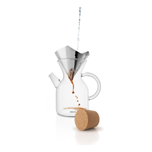 Pour over coffee maker, 1 Litre, Borosilicate Glass/Stainless Steel/Cork