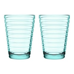 Aino Aalto Pair of tall tumblers, 33cl, water green
