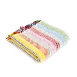 Stripes Throw, 150 x 183cm, rainbow grey stripe