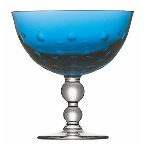 Bubbles Footed bowl, Sky Blue