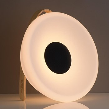 Eclipse Speaker lantern, L26.7 x W26.7 x H40cm, white/black
