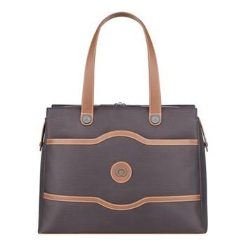 Chatelet Air Soft Ladies tote bag, H30.5 x L41.5 x D15.5cm, chocolate