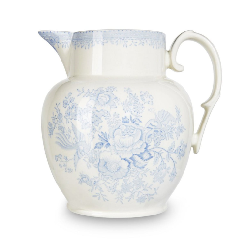 Asiatic Pheasants Etruscan jug large, 2.2 litre - 4pt, Blue