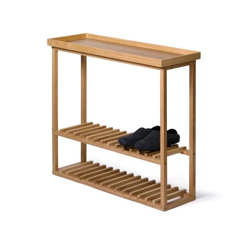 Hello Storage table, H74.4 x W81 x D28cm, Oak