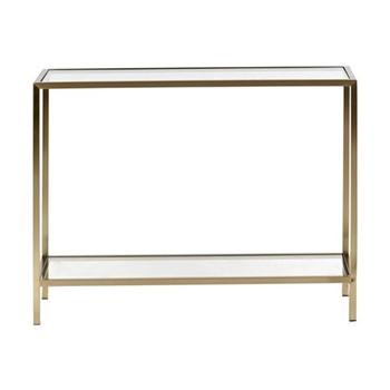 Keswick Rectangular side table, W53 x D26.5 x H53cm, brass