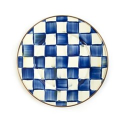Royal Check Dessert plate, D20.32cm, blue & white