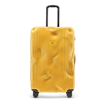 Stripe Large suitcase, H79 x W50 x D30cm, yellow