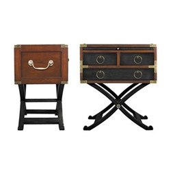 Bombay Box Occasional table, H65.5 x W56.5 x L40cm, black distressed cherry/pine