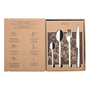 L'Econome 24 piece cutlery set, mirrored stainless steel