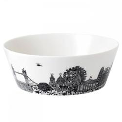 London Calling - Charlene Mullen Serving bowl, 25cm, black and white print
