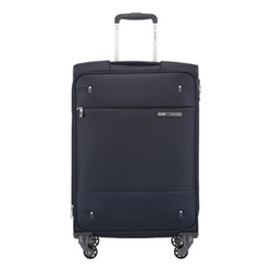 Base Boost Spinner expandable suitcase, 66 x 44 x 28/31cm, navy blue stripes