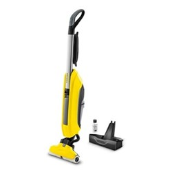 FC5 Hard floor cleaner, H122 x W32 x D27cm, yellow & black