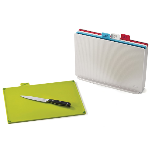 Index Large colour-coded chopping board set, Silver