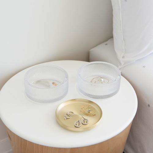 Tesora Glass box, H11 x W13cm, Brass