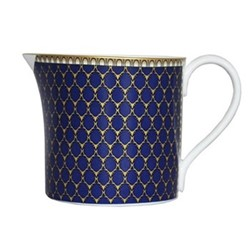 Antler Trellis Creamer jug, H7.3 x D7cm, midnight blue and gold