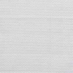 Herringbone Polypropylene indoor/outdoor rug, W61 x L91cm, Pearl Grey/White