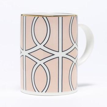 Loop Mug, 10.2 x 7.6cm, blush/white (gold rim)