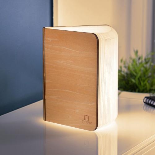 Mini smart book light, L12.2 x W9 x H2.5cm, Maple